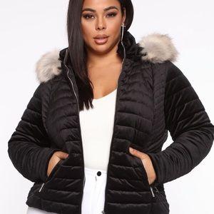Velvet winter coat